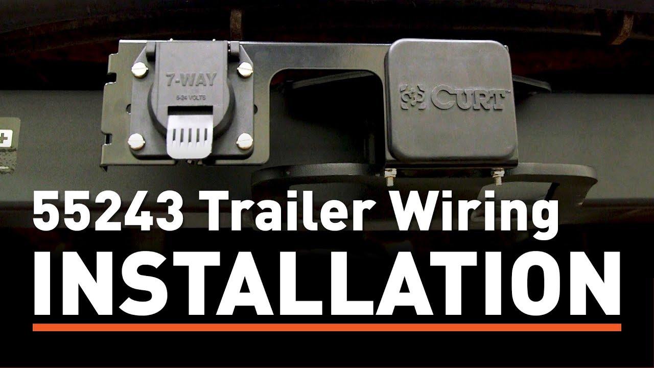 trailer wiring install curt 55243 custom wiring connector on a f350 super duty [ 1280 x 720 Pixel ]