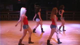 Round Up Country Western Night Club, Davie Fl Line Dancers Perform The Loud by Big and Rich Dance