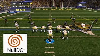 NCAA College Football 2K2 Dreamcast- Widescreen HD 60fps nulldc (Sega NCAA2k2)