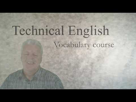 Learn Technical English: a vocabulary course