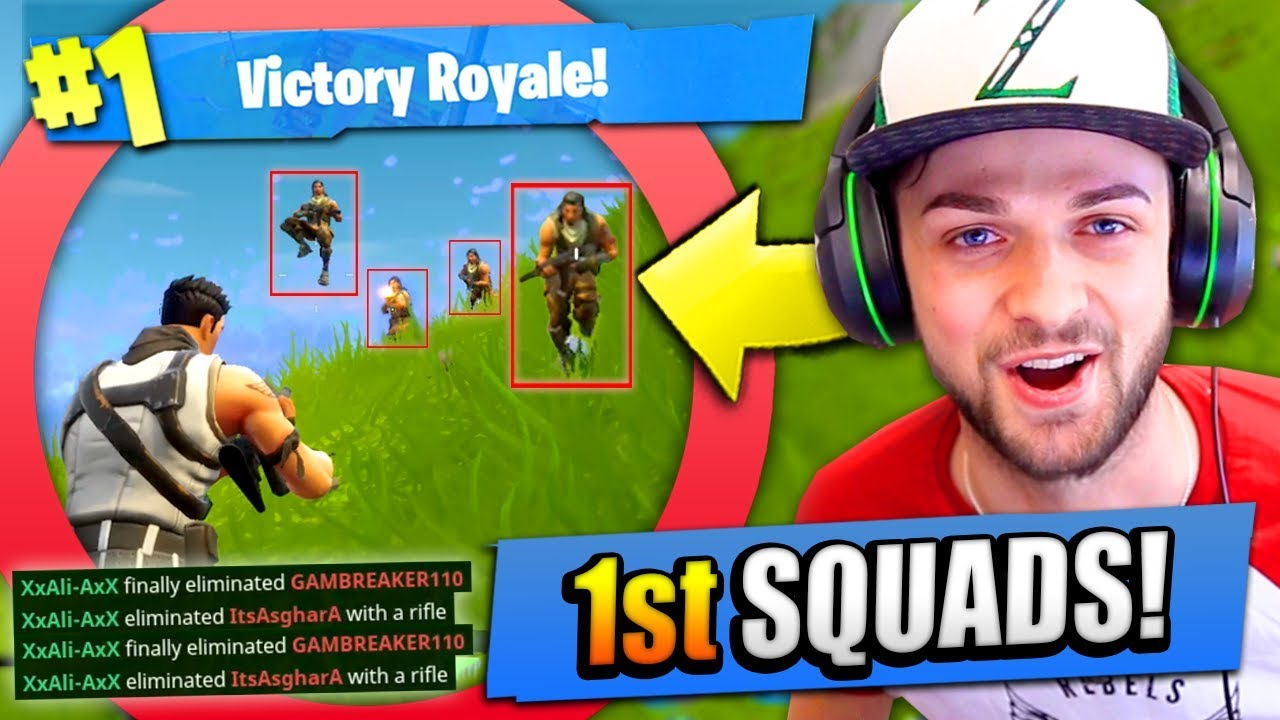 Ali A S 1st Squads Ever In Fortnite Battle Royale Youtube