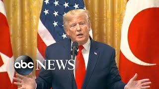 Trump on impeachment hearing: 'I hear it's a joke' | ABC News