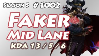 skt t1 faker twisted fate vs ekko kr lol challenger 923lp