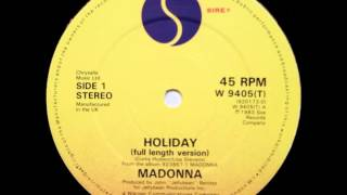 Madonna - Holiday (12'' Full Length Version)