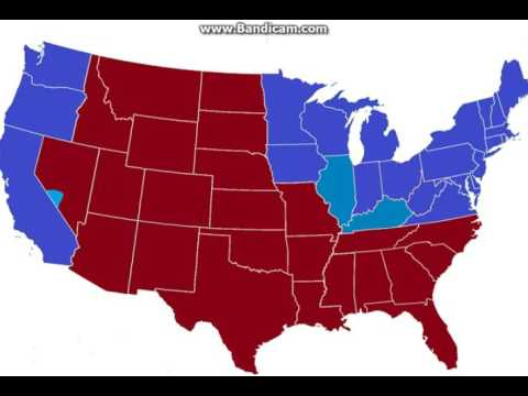 What If USA Had A Civil War In YouTube - Map of us during civil war