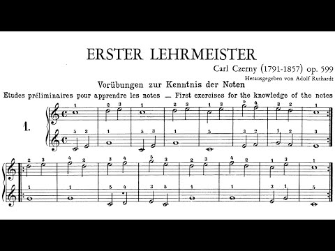 Czerny Op.599 Practical Method for Beginners on Piano (Complete)