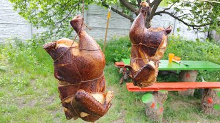 Курица горячего копчения, рецепт для начинающих!