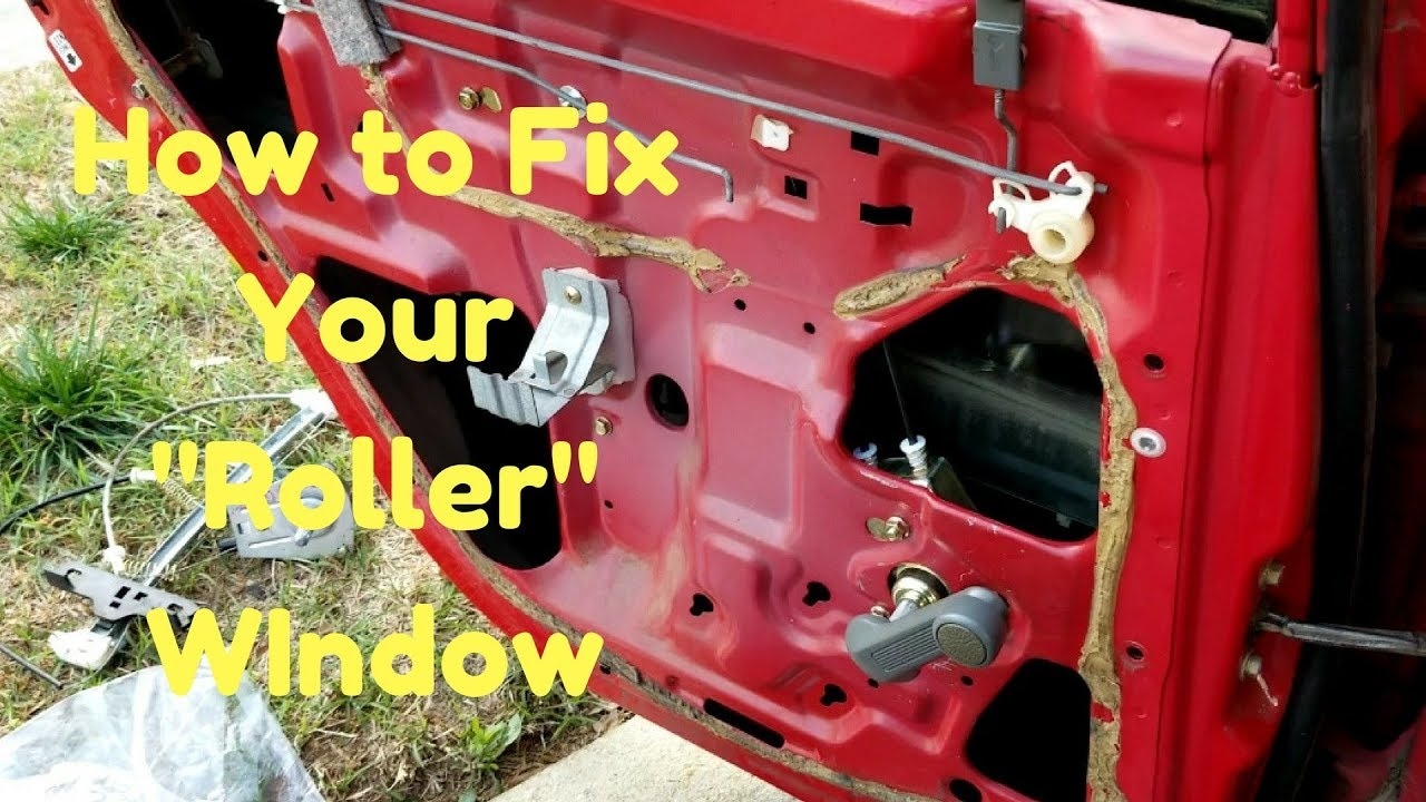 Fix Your Manual Window Regulator Rolly Hand Crank Fix 92 00 Honda Acura Youtube