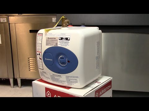 How to install a small electric water heater  SharkBite PEX Ariston GL4S