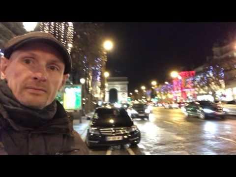 Christmas street decorations Paris 8/12/2016