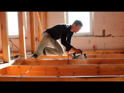 ⚫Wood Floor for 9 $/m2 the BEST CHOICE! HOW to build a CHEAP House of Aerated concrete? #18