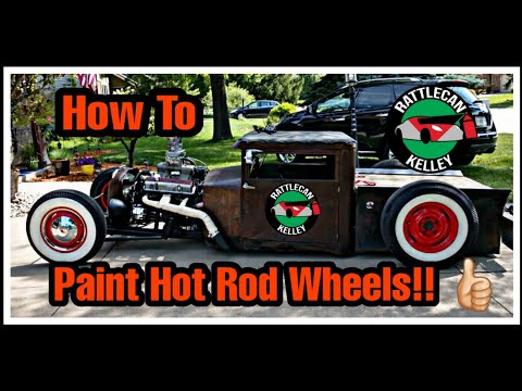 31 Chevy Rat Rod wheels painted with Rust-Oleum spray paint. Award winning results!!