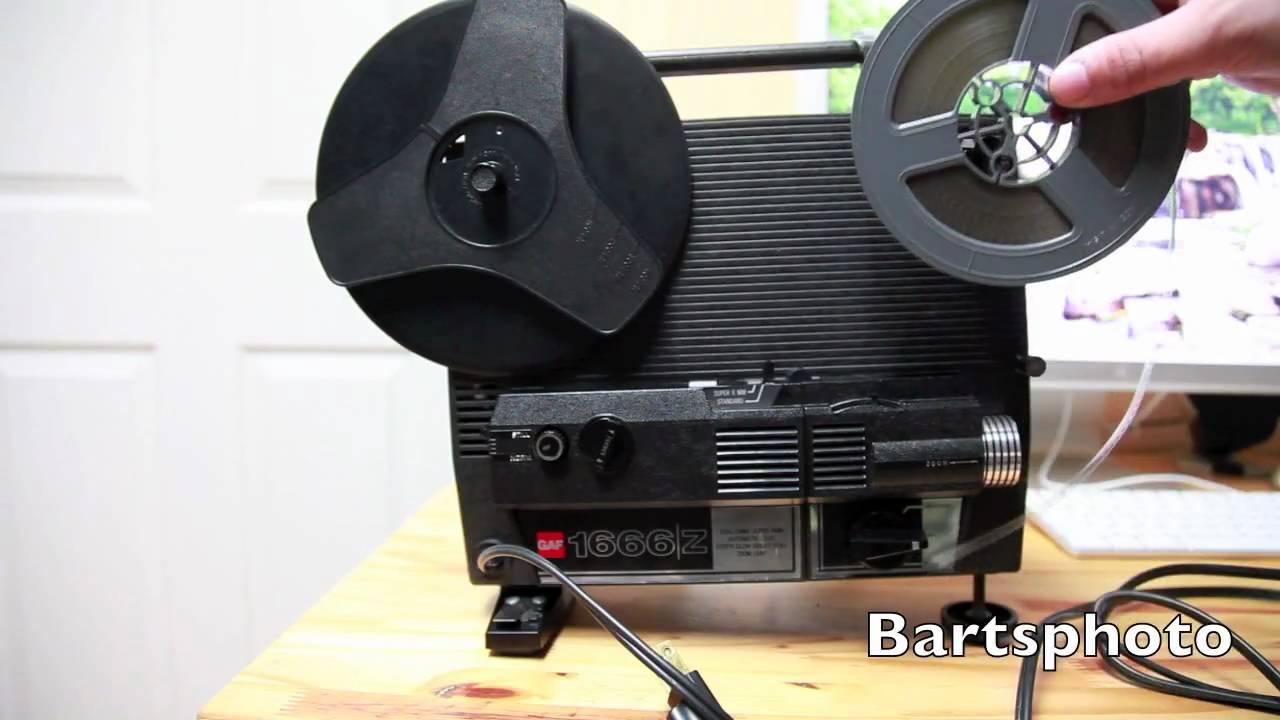 gaf  mm film projector youtube