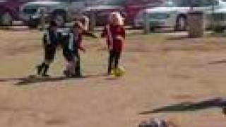 u6 soccer girls kailey 5 yrs old game 1