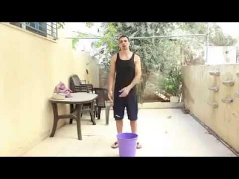 Rubble Bucket Challenge for Gaza by Jordanian comedian