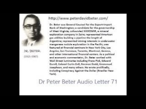 Dr. Peter Beter Audio Letter 71: Siberian Express; Russia Dollar; Alliances 29, 19