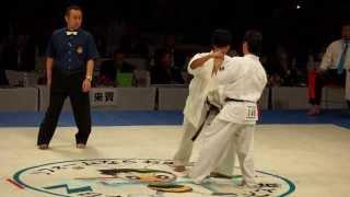 2013年白蓮会館 全日本空手道選手権 福地勇人選手 準決勝戦