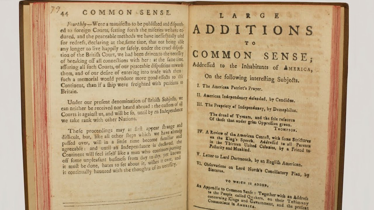why did thomas paine call his pamphlet common sense