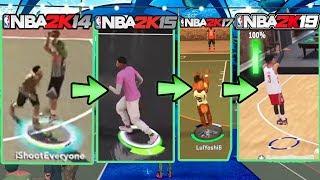 EVOLUTION OF THE GREENLIGHT SHOT METER ! NBA 2K14 - NBA 2K19 JUMPSHOTS ! NBA 2K15, 2K16, 2K17, 2K18