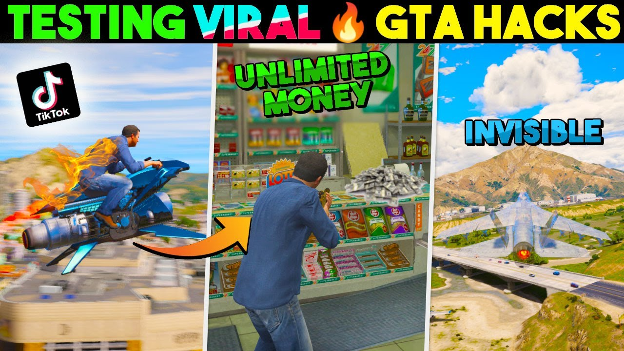 Trying Viral TikTok Hacks in GTA V... They WORKED 😱 #2