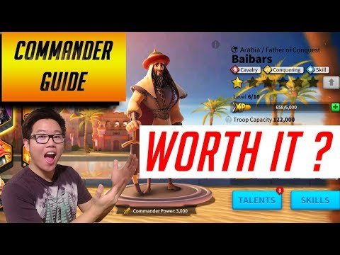 Baibars is he worth it? Rapid Rage Recovery Commander Guide | Rise of Civilizations