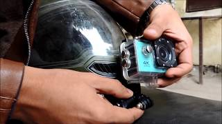How to mount Action Cam on Helmet in 5 Minutes - (Easy & HIndi)