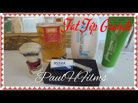 Fat Tip Grande ~ Astra Blade ~ Godrej Lime Shaving Cream