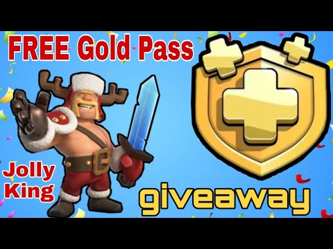 Free Gold Pass | December Clash Of Clans Gold Pass Giveaway | Jolly King Gold Pass Giveaway 2019