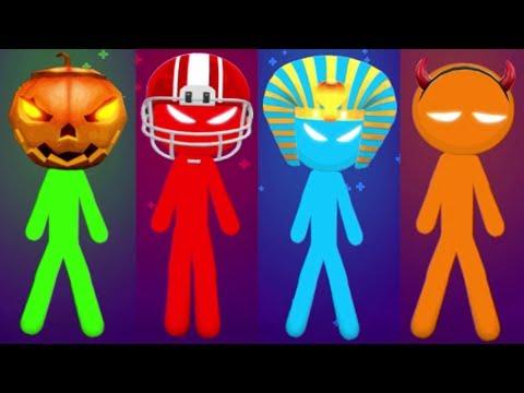THE STICKMAN MINIGAMES BATTLES Gameplay Walkthrough MIX STICKMAN GAMES Android Game