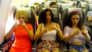 Las SEREBRO liandola en un avion ( МАЛЬЧИК - Malchick)