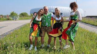 München bereitet sich auf die EM2020 vor - Angermaier präsentiert ein passendes Trachten-Outfit