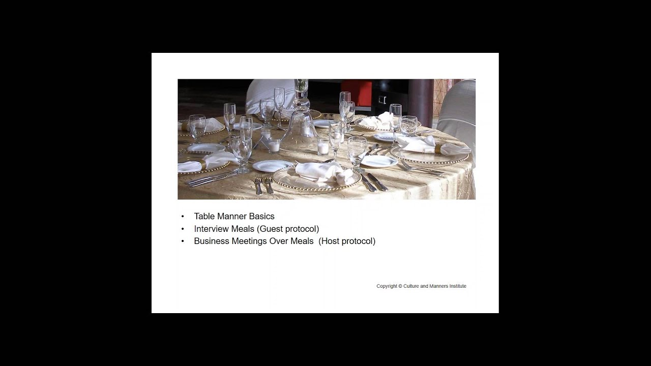 Hard Rolls And Soft Skills Business Dining Etiquette