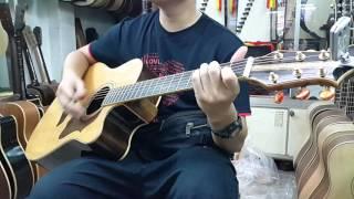 Test cây copy Gibson gỗ Indian Rosewood
