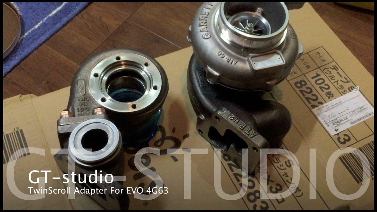 4G63 EVO TwinScroll & Twin Wastegate Manifold Adapter For Garrett T3  TwinScroll Flange