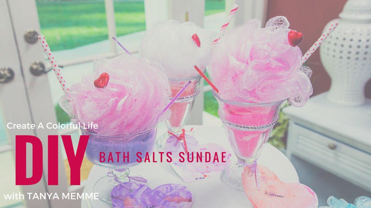 diy bath salt sundaes youtubeSundae Bath Salts #1