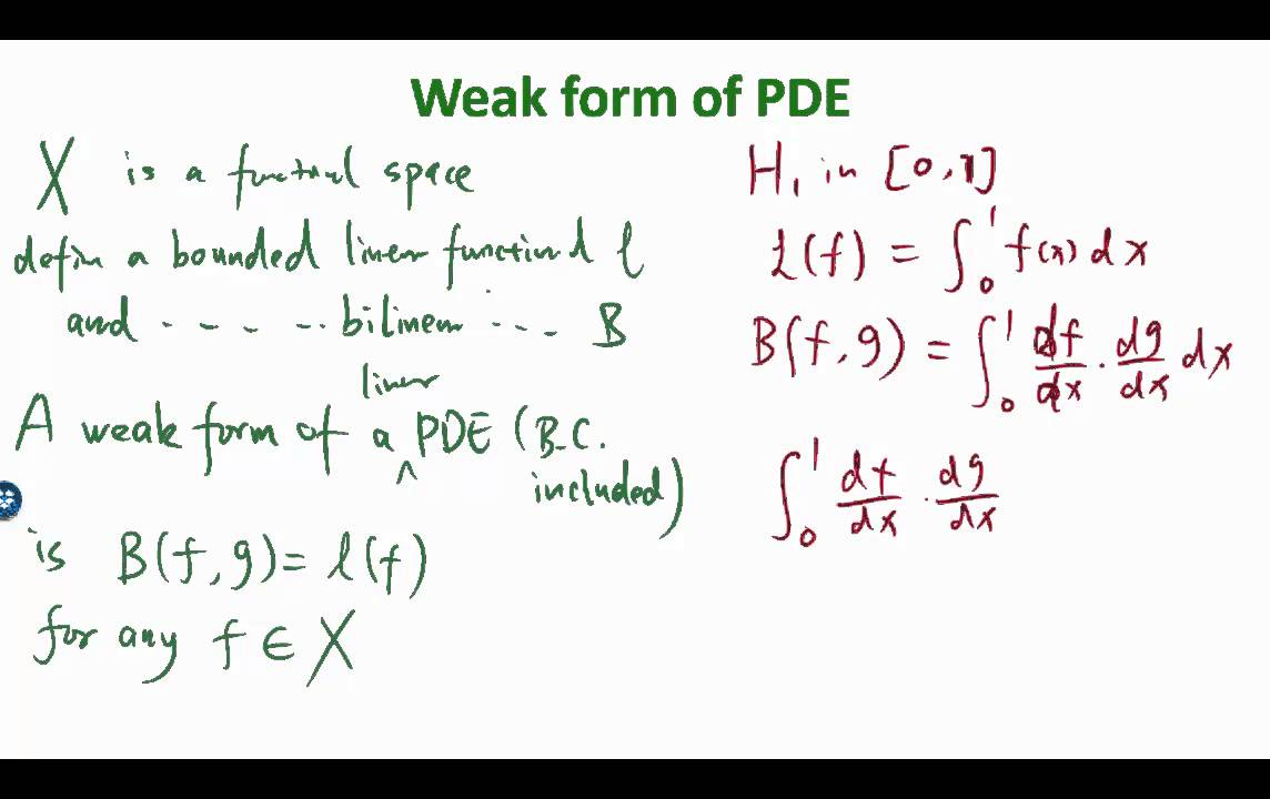 MIT Numerical Methods for PDEs Lecture 15: Math Foundation of Finite  Element: weak form of PDEs