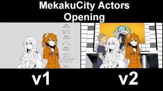 Repeat youtube video Mekaku City Actors OP v1/v2