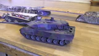 Big RC Tank Leopard 2 from Jevnaker Hobby Fair 2017 - Norway.