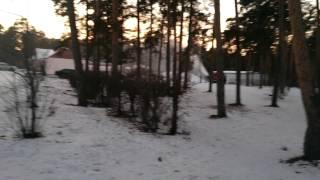 Снеговая пушка и 3 пожарные машины в Парке Гагарина 27 ноября 2014
