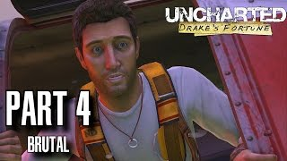 Uncharted Drake's Fortune Walkthrough Part 4 - Plane-Wrecked Brutal Difficulty, All Treasures