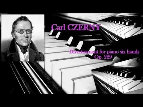 Carl Czerny: Divertissement militaire for piano six hands, Op. 229, Bakhchiev, Sorokina, Konsistorum