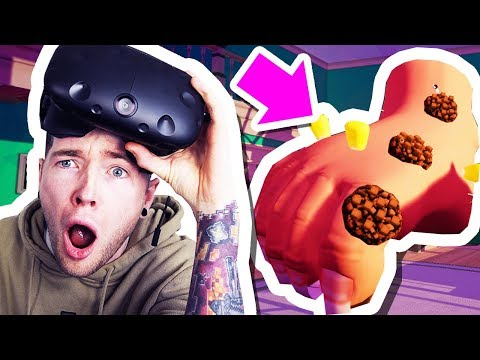 VIRTUAL REALITY FOOT TRIES TO FLATTEN MY HOUSE!!!