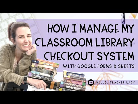 Easy Classroom Library Checkout System 📚 How I Use Google Forms & Google Sheets