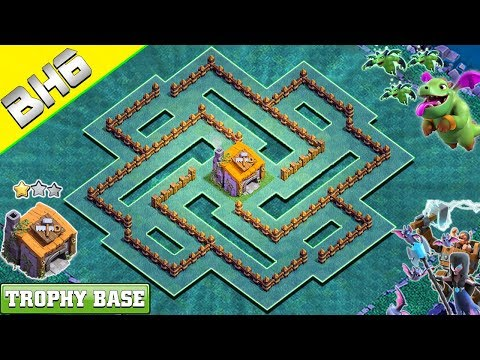 BEST BH6 Base 2019 | Builder Hall 6 Trophy Base With COPY LINK - Clash Of Clans