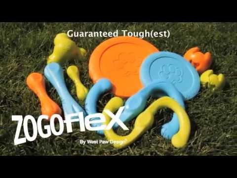 Fun Tough Dog Toys Zogoflex by West Paw Design