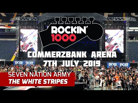 Seven Nation Army - The White Stripes - Rockin'1000 - Frankfurt 2019 (Multicam + Good Sound)