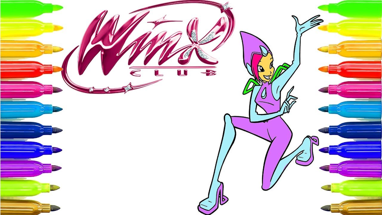 Winx Club Tecna Coloring Pages Learn Coloring How To Draw