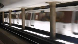 WMATA Metrorail: Shady Grove bound Red line train depart Judiciary Square