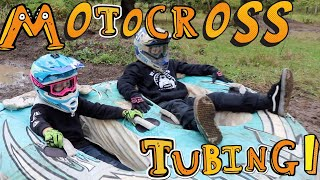Motocross Tubing! My dirt bike track flooded!!!