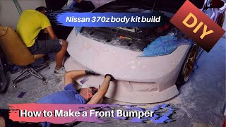 DIY 370z body kit: How to make a front bumper part 1
